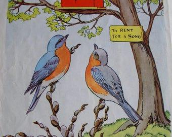 Vintage Children's Book Illustrations, Animal Storybook Pages, Animal Storybook Illustrations