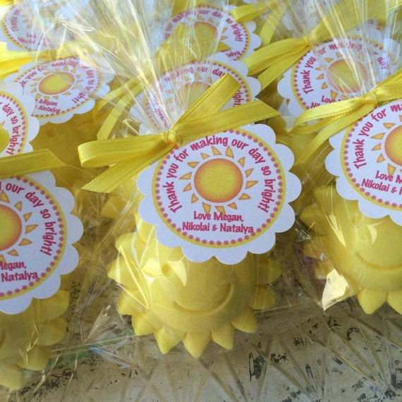 35 Sun Soaps Favors Sunshine Party Summer Birthday Party