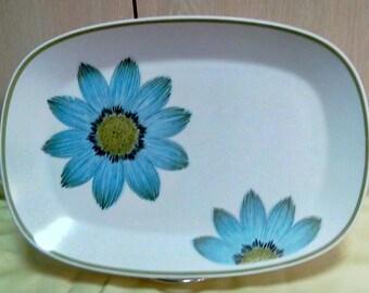 Vintage Noritake Progression Up Sa Daisy Pattern 13 1/2 inch Serving Platter, Rectangular Serving Platter, China