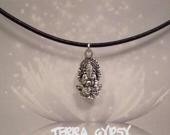 FREE SHIPPING, Ganesh necklace, ganesha necklace, elephant god necklace, elephant necklace, yoga necklace, Hindu Necklace