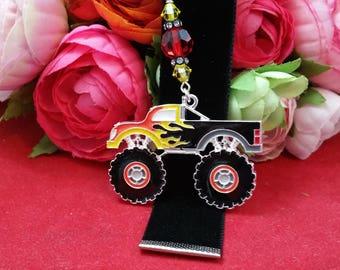 Monster Truck Velvet Ribbon Bookmark