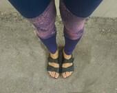 Women Leggings, Yoga Leggings, Boho Leggings, Yoga bottoms, Hand Bleach Dyed Leggings