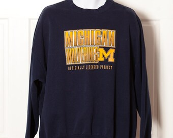Vintage 90s MICHIGAN WOLVERINES - University Of Michigan Sweatshirt