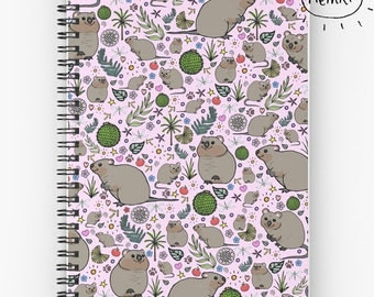 Quokka Notebook, Cute Journal, Quokka Gifts, Cute Quokka, Quokka, Cute Rodents, Australian Animal, Cute Rodent Gifts, Cute Graph Notebook