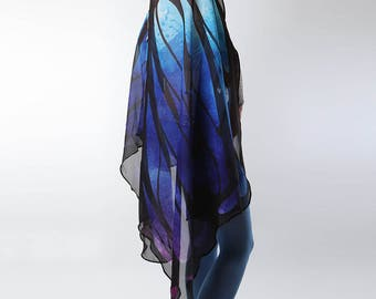 Butterfly Wings in Blue & Purple