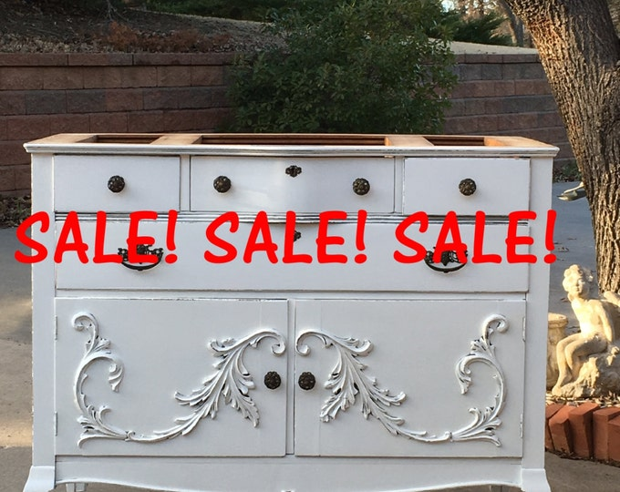 STOREWIDE SALE BATHROOM Vanity / Makeup Vanity / Painted Antique Furniture Farmhouse to Shabby Chic