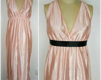 Peach Goddess Slip Dress - S/M 34