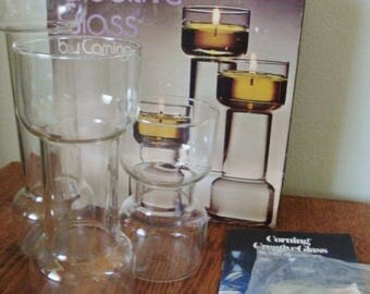 Floating Candles ~ Creative Glass by Corning ~ Boxed Set of 3 Un-Candles