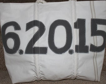 large gray number sail bag