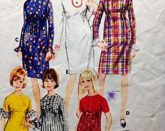 High waisted retro dress pattern Butterick 3991