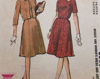 McCalls Vintage 1960's Misses Dress and Jacket 6903