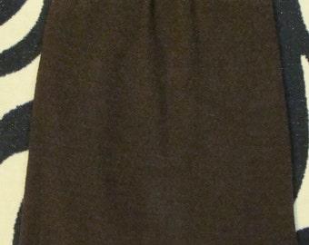 BLASSPORT bill blass CHOCOLATE BROWN pencil skirt boucle S