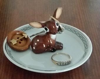 Vintage Deer Ring holder