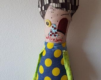 Stuffed Rag Monster Zombie Doll Estelle
