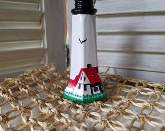 Portland Headlight, vintage, salt and pepper shakers, lighthouse,table setting, salt shaker