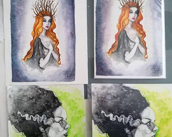 Ethne the Woodland Witch ***PRINT***