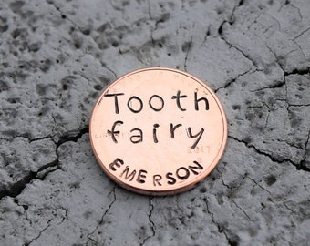 Personalized Tooth fairy pennies. Tooth fairy gift.  Lost tooth gift.