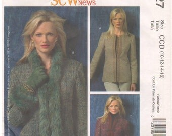 2005 - McCalls 4927 Sewing Pattern Sizes 10/12/14/16 Sew News Jacket Blazer Fitted Lined Princess Seams Petite Uncut