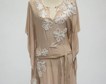 Gold Hawk Silk Tunic