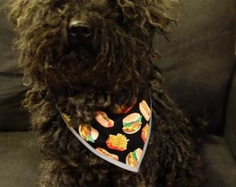 Food Design Reflective Reversible Pet Bandana