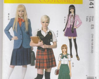 Cosplay Costume Pattern McCalls 7141 Sizes 14 - 22 UNCUT