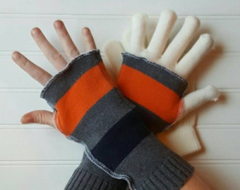 Arm warmers, Eco Friendly, fingerless mitten gloves, upcycled sweaters, warmers, nordic gloves, rustic recycle arm warmers, upcycled gloves