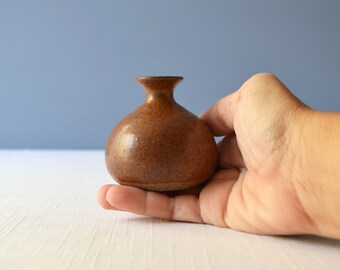 Vintage Stoneware Studio Art Pottery Weed Pot Signed Pulick