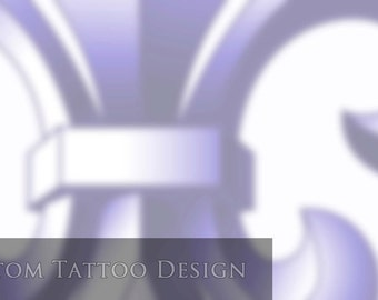 SOLD! - Fleur de Lis Tattoo Design for Jordan D.