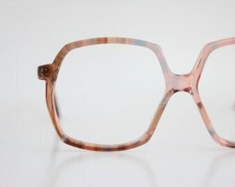 Vintage 70's French Terra Cotta Tortoise Eyeglass Frames