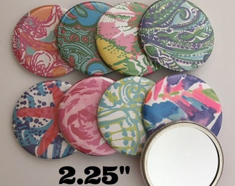 Lilly Pulitzer inspired pocket mirrors