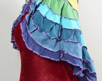 Up-cycled Bolero Cape. UK Seller. Ship Worldwide