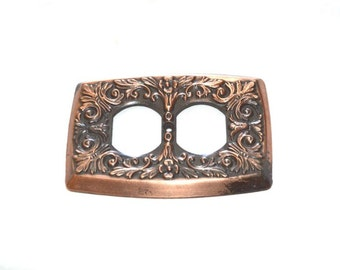 Copper Outlet Cover Vintage Made in Stamford CT