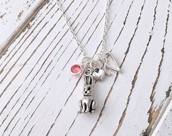 Personalized Bunny Rabbit Necklace