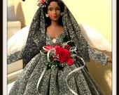 African American Christmas Angel Tree Topper, Black Angel Holiday Treetop, OOAK Handmade Holiday Decoration