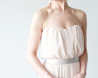 Platinum champagne waist belt- minimalist women's leather look structure waist belt- modern bridal belt