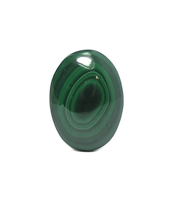 Malachite Green Banded Bulls Eye Copper Gem Oval Calibrated Cabochon 25 x 18 mm African Gemstone