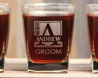 Cool Groomsmen Engraved Whiskey Glasses Gifts Be My Groomsman Be My Best Man Personalized Rocks Glasses ANY QUANTITY