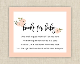 Baby Shower Book Request Cards Printable, Books For Baby Insert, Bring A  Book Instead