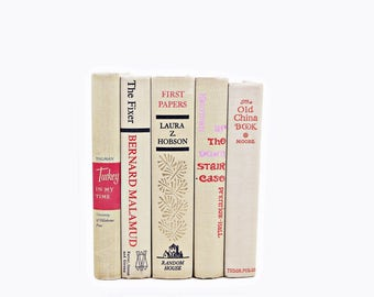Wheat Beige Antique Book Set, Decorative Books, Old  Book Collection, Wedding Decor, Home Office Decor, Vintage Book Decor, Instant library