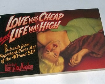 Book of PULP FICTION Postcards, copyright 1990, Sexy, Racy