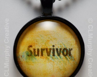 Survivor Hand Art Custom Necklace Pendant Jewelry Sobriety Christian Jewelry Cancer Survivor Pendant NA AA C L Murphy Creative