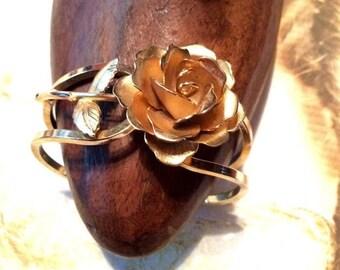 Bridal Rose Bracelet Romantic Giovanni Blossom Clamper 1950 1960