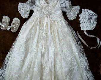 Baptism dress for baby girl, christening gown, baptism dress, christening gowns, baptism gown, baptism dresses, lace christening gown