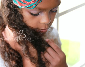 Miami Dolphins flower headband // Football Headband // by Born Tutu Rock