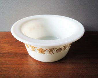 "Vintage Pyrex Butter Bowl, Butterfly Gold Bowl 75, Corning NY USA Ovenproof Margarine Dish, 5"" Bowl, No Lid, Corning Glass Bowl, Pyrex Dish"