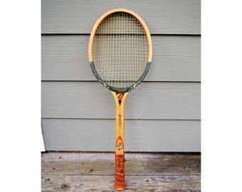 Vintage Wood Tennis Racket, Mid Century Tennis, Ideal Master Stroke, Tennis Racket Decor, Sports Memorabilia, Racket Sports, Cottage Decor