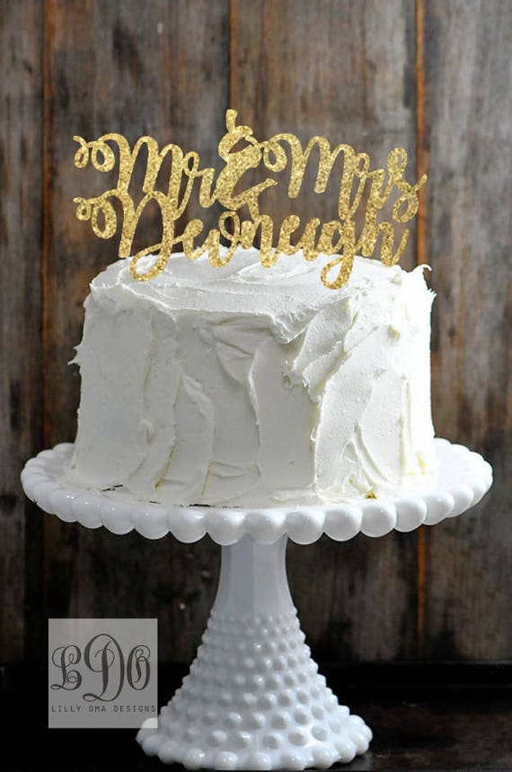 gold name wedding cake topper items similar to custom mr and mrs last name wedding cake 14802