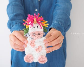 Rainbow Unicorn Gift Card Holder Crochet Pattern
