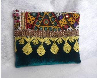 Bohemian Clutch Wallet, Embroidery Clutch Purse,Women Gift,Tribal Clutch,Boho Clutch, Gift For Her.