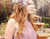 Fields of Lavender Feather Fascinator